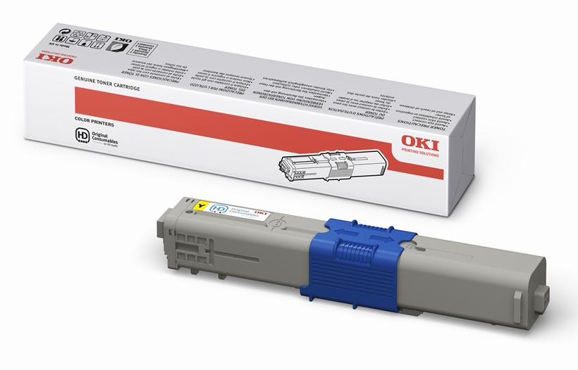 Mực in Oki C310 Yellow Toner Cartridge (44469755)